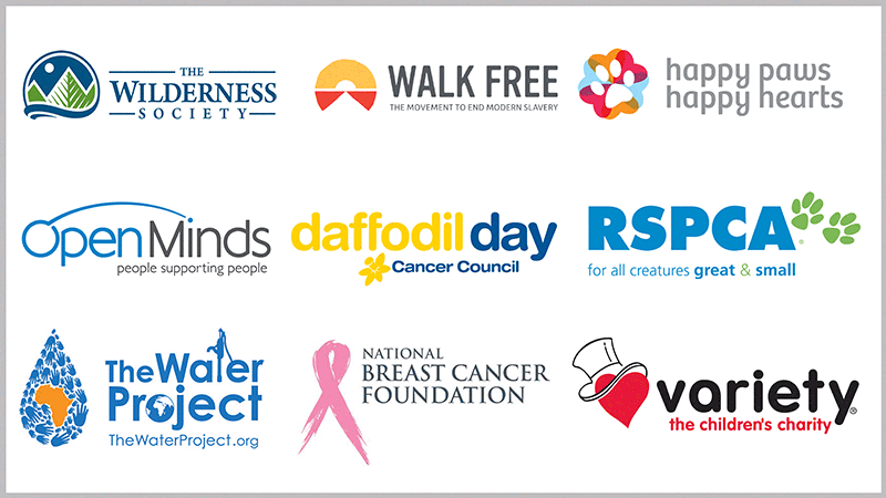 Some of the charities for the Hornsby Dance Classes major Showcase